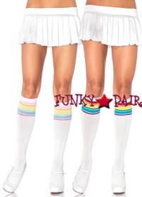 5207, Rainbow Knee Socks