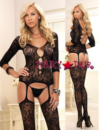 Lace Suspender Bodystocking * 89103