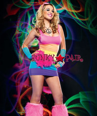 28119, Spandex Rainbow Mini Dress