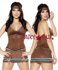 sexy indian native costumes R-4430, Native American Babe Costume