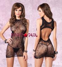 LA87043, Lace Mini Dress