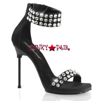 Chic-41, Rhinestones Ankle Cuff Sandal Made By PLEASER Shoes