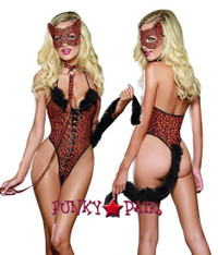 role play lingerie sexy costumes,DG-9318, Cheeta-Luscious Cheetah Costume