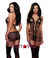 role play lingerie sexy costumes,DG-8647 * 2-Star General Jenna Garter Dress