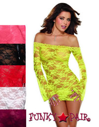DG-4208 * Lace Courtesan Off The Shoulder Tunic