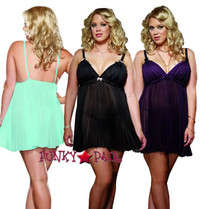 DG-6218X * Sheer Enticement Plus Size Babydoll Set