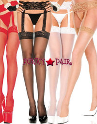 ML-7800, Lace Top Garter Belt Stocking