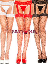 ML-7994, Diamond Net Suspender Stockings