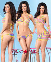 LA81444, Rainbow Skirt Set