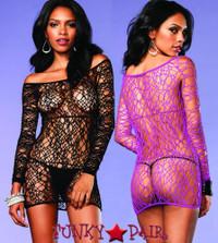 LA86570, Web Net Dress