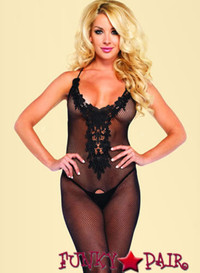 LA89117, Embroidered Bodystocking