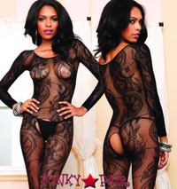 LA89108, Swirl Lace Bodystocking