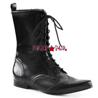 BROGUE-10, Wingtip Mid-Calf Oxford Boot Made by Demonia