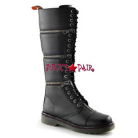 DISORDER-418, Knee High Combat Demonia Punk  Boots