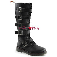 DISORDER-420, Knee High Buckles Strap Combat Boots