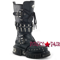 DMA-3002, Bullets Studded Strap Calf Boots