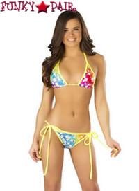 CL401, Print Tie-Side Bikini Set