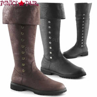 Gotham-120, Men's Cuff Knee Boots