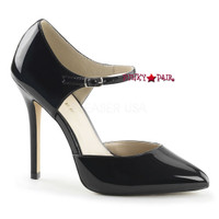 Amuse-35, 5 Inch D'orsay Pump with Ankle Strap