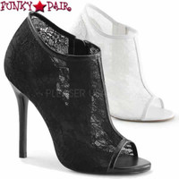 Amuse-56, 5 Inch Open Toe Booties