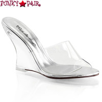Lovely-401, 4 Inch Wedge Slide Made By PLEASER Shoes