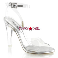 Clearly-406, 4.5 Inch Clear Ankle Strap Sanda