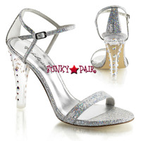 sClearly-425, 4.5 Inch Closed Back Ankle Strap Sanda Made By PLEASER Shoe