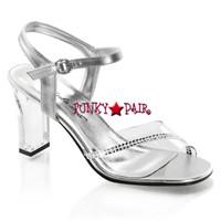 Romance-308R, 3.25 Inch Square Heel Rhinestones Sandal