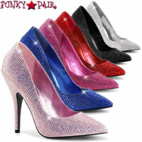 Seduce-420RS, 5 inch rhinestones pump
