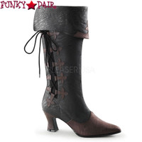 VICTORIAN-128, 2.75 Inch Mid-Calf Pull on Boots * Made by FUNTASMA