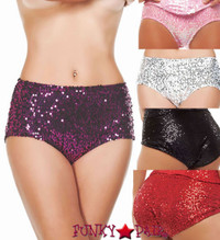 SLA2926, Sequin High Waist Panty