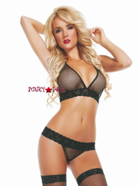 SL2811, Wicked Nights Mesh Bra and Thong Set