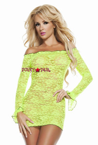 SL4622, Neon Dreams Green Dress