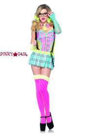 LA-85251, Day Glow School Girl Costume