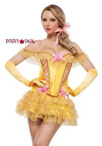S4184, Enchanted Castle Beauty Belle Costume front view