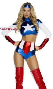 FP-554701, Pretty Patriot Sexy Hero Costume