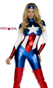 FP-554700, Astonishing Allegiance Sexy Hero Costume