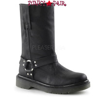 RAGE-303, Woman Calf Motorcyle Women Punk boots Mady By Demonia