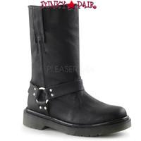 RAGE-303, Woman Calf Motorcyle Women Punk boots Mady By Demonia