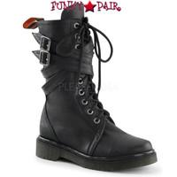 RAGE-307, Woman Calf Combat Women Punk boots Mady By Demonia