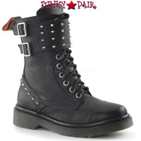 RAGE-309, Woman Combat Boots with Spike Women Punk boots Mady By Demonia