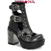 SINISTER-61, 3.5 Inch ABS Heel with Spike and Zip Front Made by Demonia