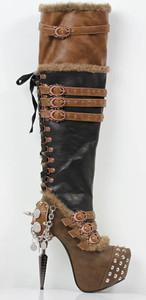 VENTAIL Steam PUnk Thigh High Boots