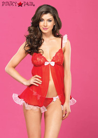Sheer Babydoll Set, LA81460