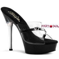 ALLURE-601H, 5.5 inch high heel with 1.5 inch platform Shoes with Heart Rhinestones