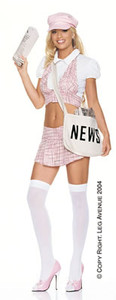 Newspaper delivery girl