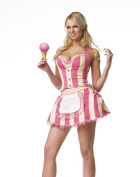 Ice cream parlor girl costume