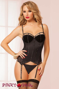 Glitter and Mesh Bustier Set (STM-9987)