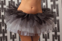 Black Four Tiered Tulle Tutu (STM-9715)