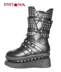 Mens SteamPunk Boots with Studded and Spike (Spektor)